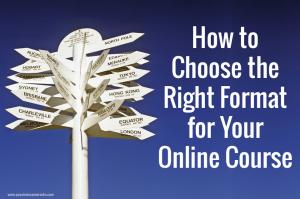 Online course format